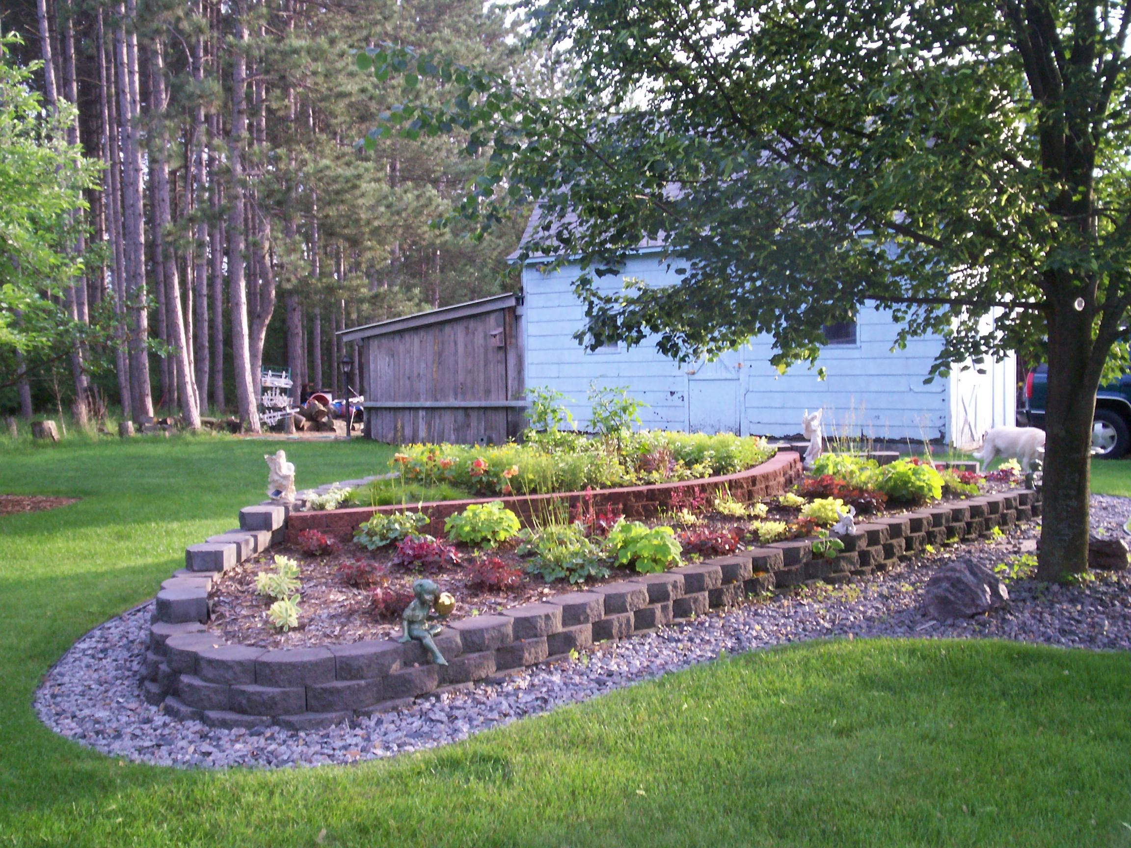 This is a raised perennial bed that is very easy to for Easy gardens to maintain