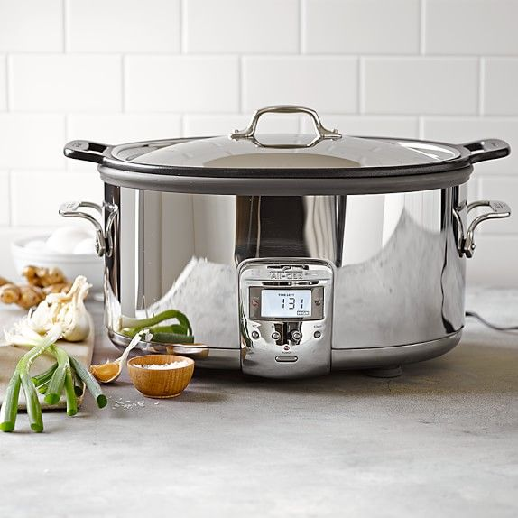 All Clad Deluxe Slow Cooker With Cast Aluminum Insert 7 Qt In