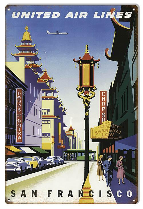 Vintage Travel advertising  Poster reproduction San Francisco