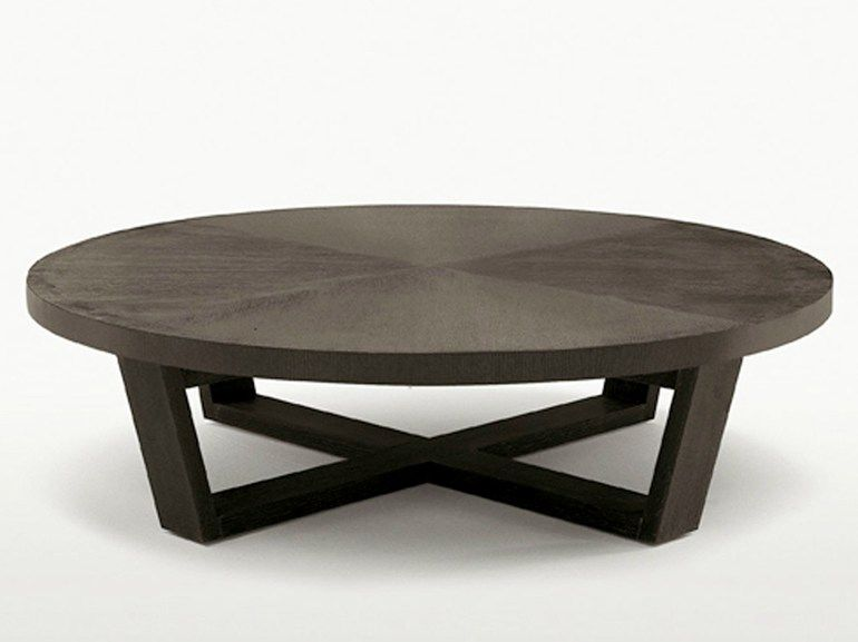 Tavolo Maxalto ~ Round solid wood coffee table xilos collection by maxalto a brand