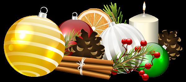 Christmas Balls Decoration Transparent PNG Clip Art Image