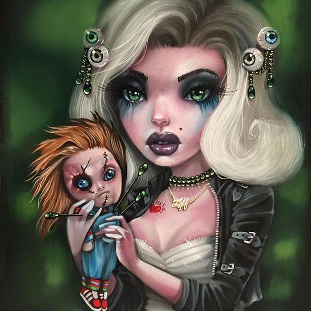 """Tiffany"" the bride of Chucky by Kurtis Rykovich Big"
