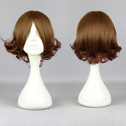 Classical Anime Short Color Mixed Curly Cosplay Wig