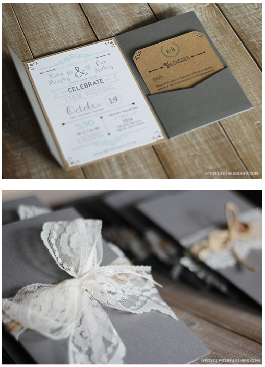 Really Liking The Vintage Look Of The Pocket Invitation