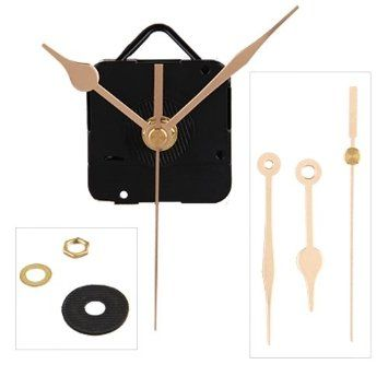 Make A Clock Out Of Anything Quartz Clock Movement Mechanism Gold Hands Diy Repair Parts Kit Amazon Co Uk Kitchen Quartz Clock Movements Clock Gold Clock