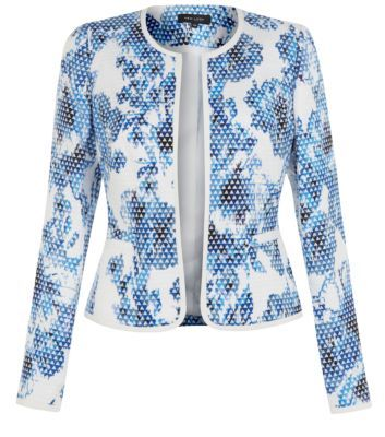 Blue Floral Print Pixelated Blazer #newlook | Pixel Nation ...