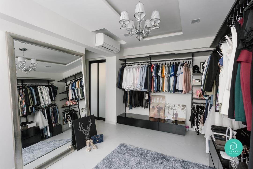 Ankleidezimmer Englisch ~ At home with lucinda zhou in her modern glam bto storage ideas
