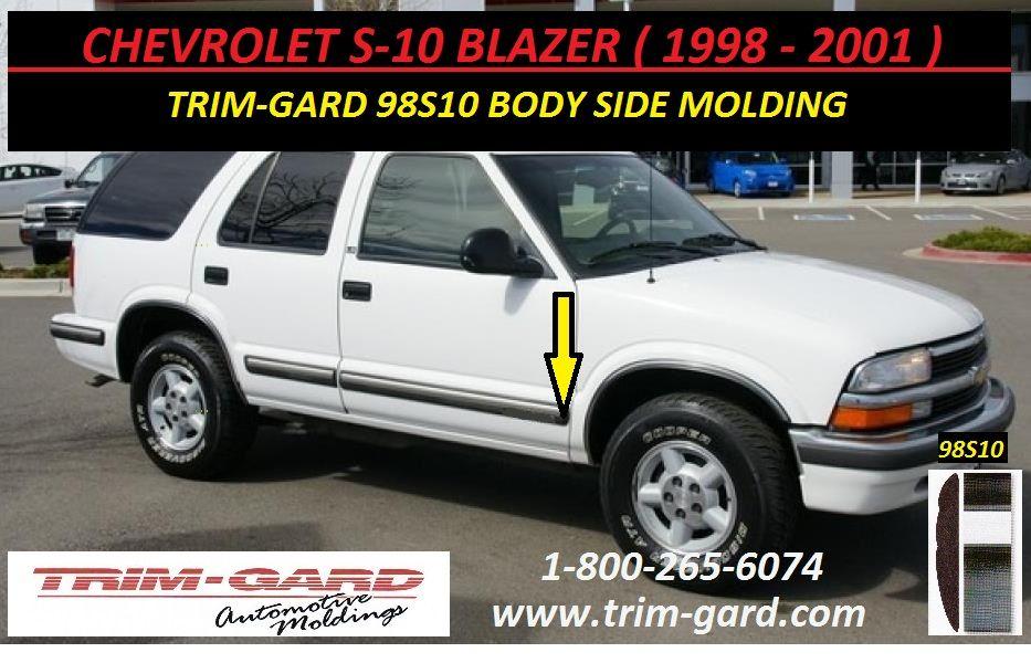 1998 1999 2000 2001 Chevrolet S10 Blazer Body Side Molding Trim Gard Manufacturers The Chevy S10 Blazer Body Side Moldings And Trim Chevrolet S 10 Chevy S10