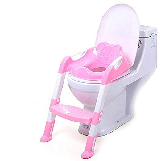potty chair with ladder chaise lounge ikea best quality potties portable kids infant toilet folding training baby seat