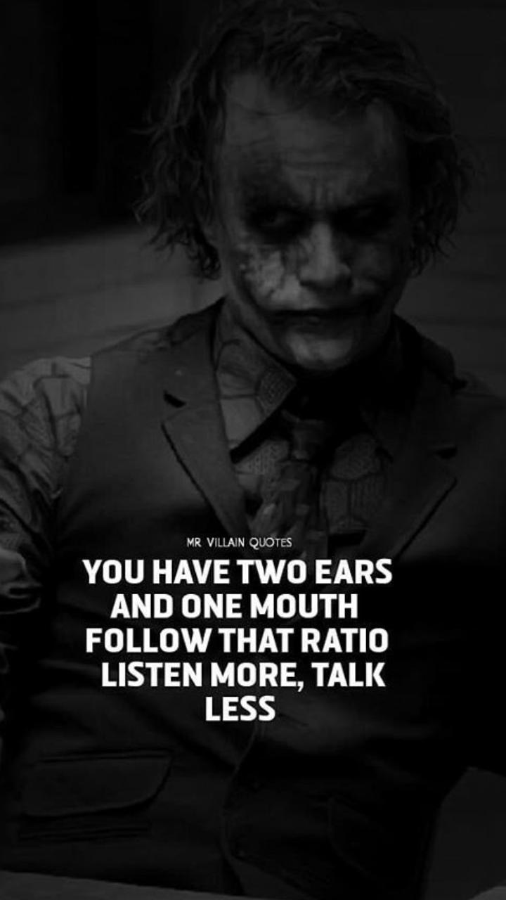5% true  Joker quotes, Best joker quotes, Villain quote