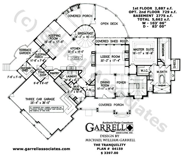 Tranquility Luxurious Mountain House Plan How To Plan Cottage House Plans Ranch Style House Plans