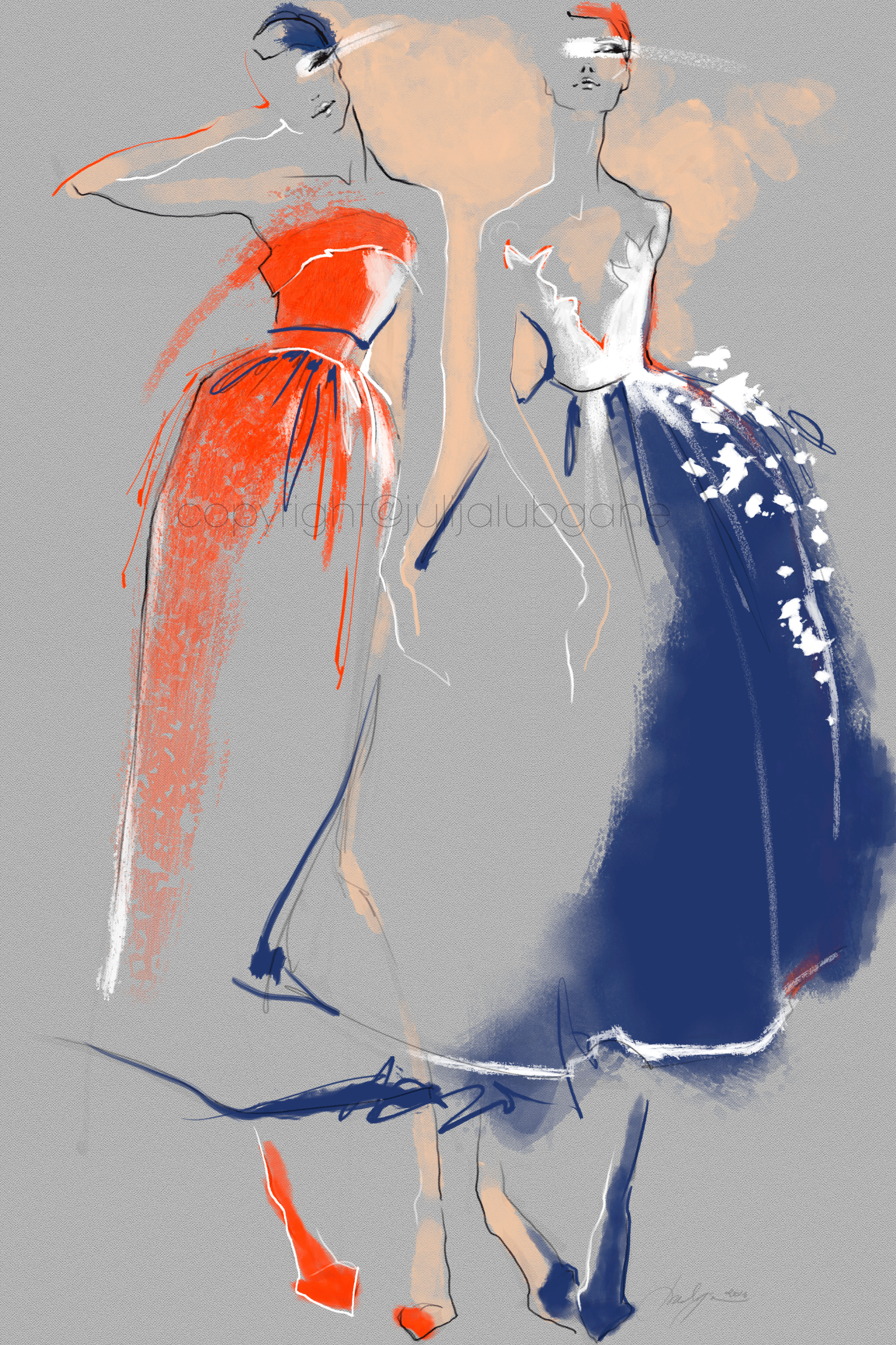 These Illustrations Were Inspired By 2016 Fashion Week I Illustrate On Wacom Cintiq Tablet Using Custom Pe Fashion Art Illustration Illustration Fashion Design