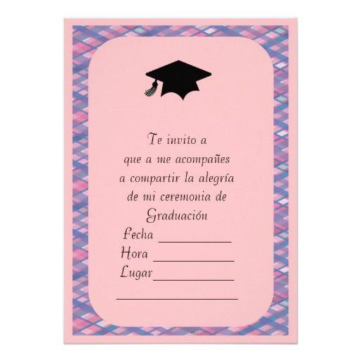 Modelos de tarjetas de invitación de graduación para imprimir Imagui graduacion Pinterest