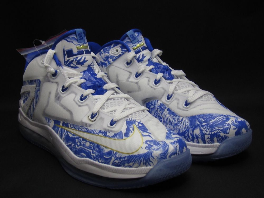 sports shoes ee39c be5d9 2014 Nike Max Lebron XI Low China Pack 9.5 White Cobalt Blue 683253-144 CH  11 DS  Nike  BasketballShoes