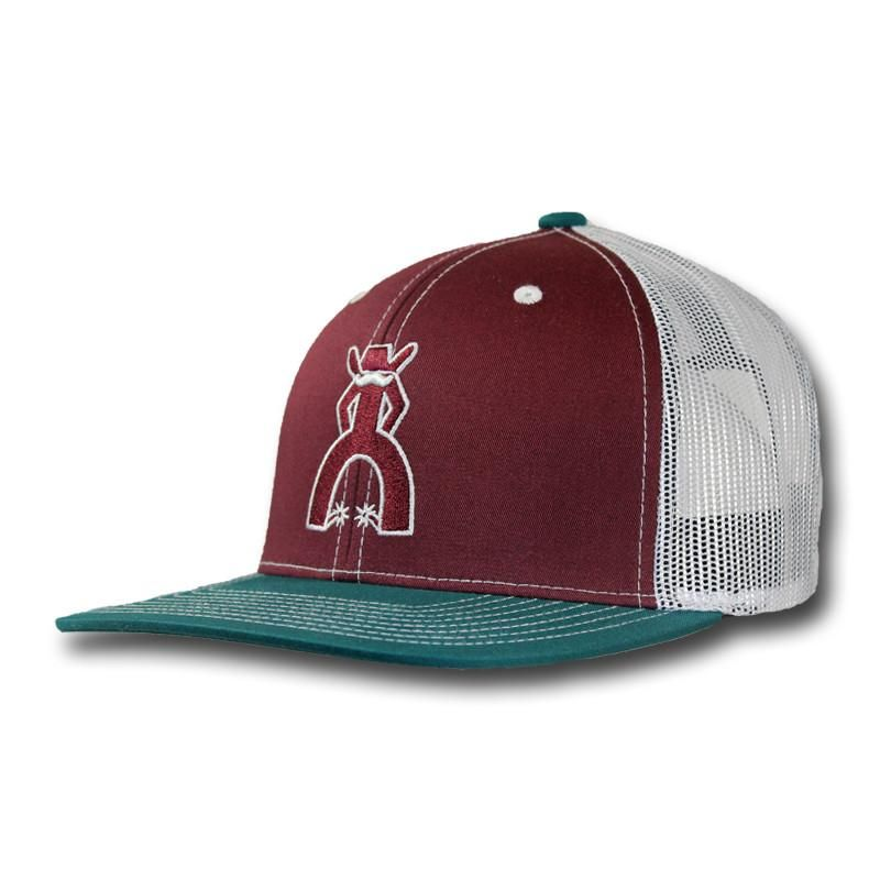 online store 9be67 0e150 This cap features maroon front panels with a maroon stitched Punchy, a  contrasting turquoise bill, white mesh back panels with a maroon snapback  closure.