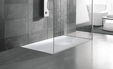 È realizzato in Corian il piatto doccia a filo pavimento di Hafro di ...