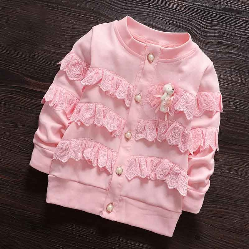 US $18.9 |(6M 3T) Baby Girl Layer Lace Princess Coat Fashion Jersey Girls Cute Bear Spring Sweatshirt Bomber Jackets Kids Cardigan Clothes|clothes sport|clothes linejersey ronaldo - AliExpress