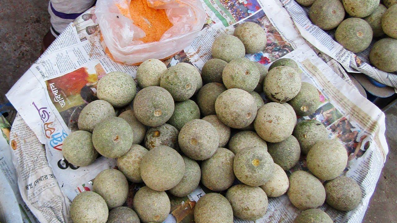 Wood Apple Fruit | Street Food Bel | Bengali Street Food Dhaka