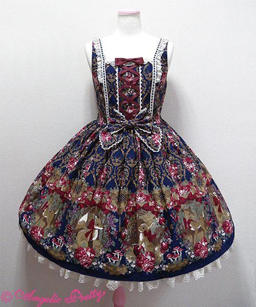 3dd04f2e8f52a Classic Fairy Tale JSK in Navy | Lolita | Classic fairy tales ...