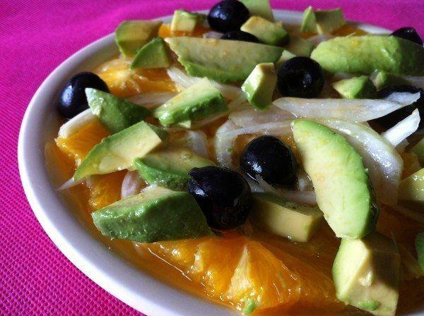 Ensalada agridulce con naranjas y aguacate