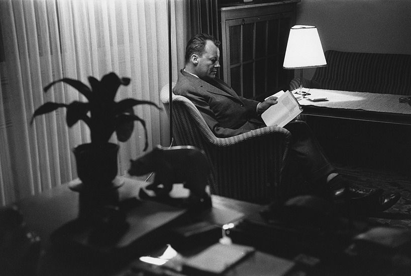 Willy Brandt by Marc Riboud