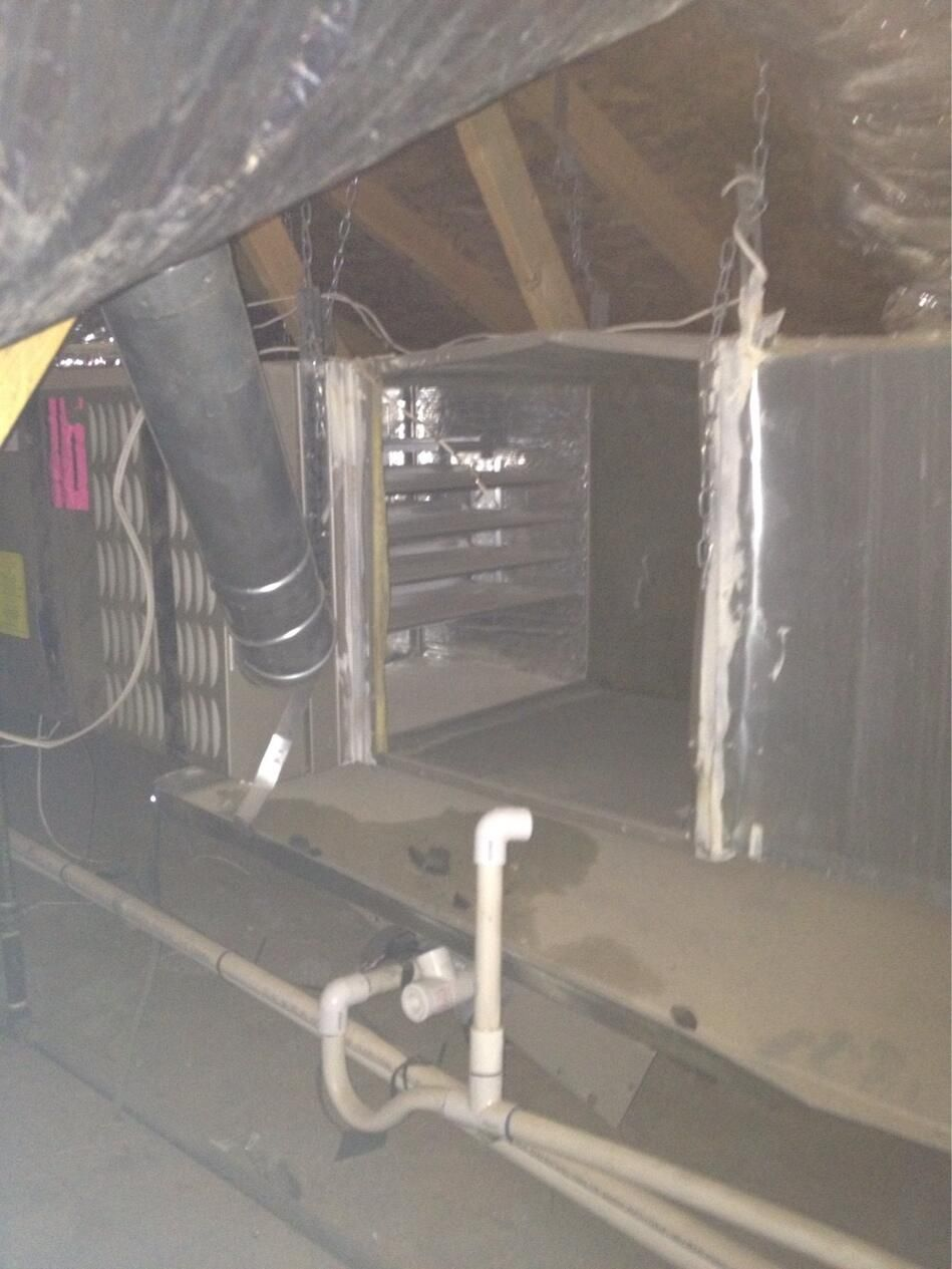 Copper Thieves At It Again They Broke In The Home And Went Into The Attic And Stole About 20feet Of Copper Line Set And Th Heating Repair Hvac Services Repair