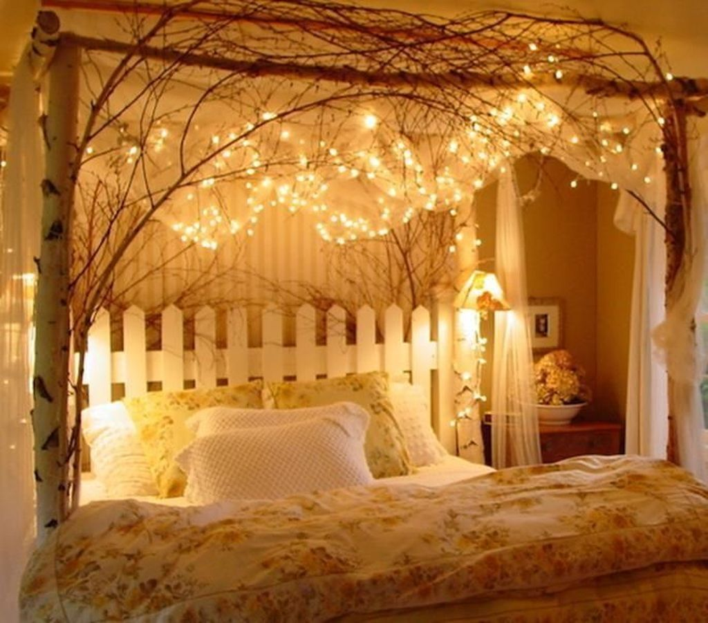beautiful canopy bed with lights design ideas to look romantic