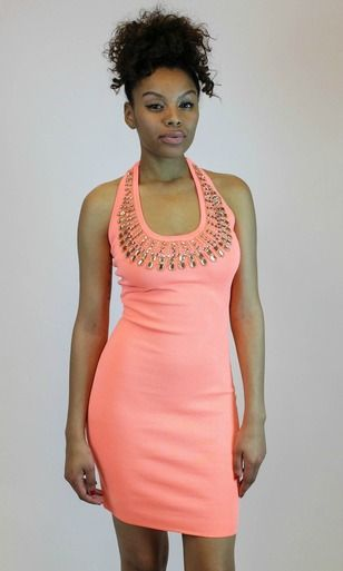 The Coral Golden Touch Dress is a perfect summer must have for anything from your birthday to a fun wedding! Shop it at vampedboutique.com*