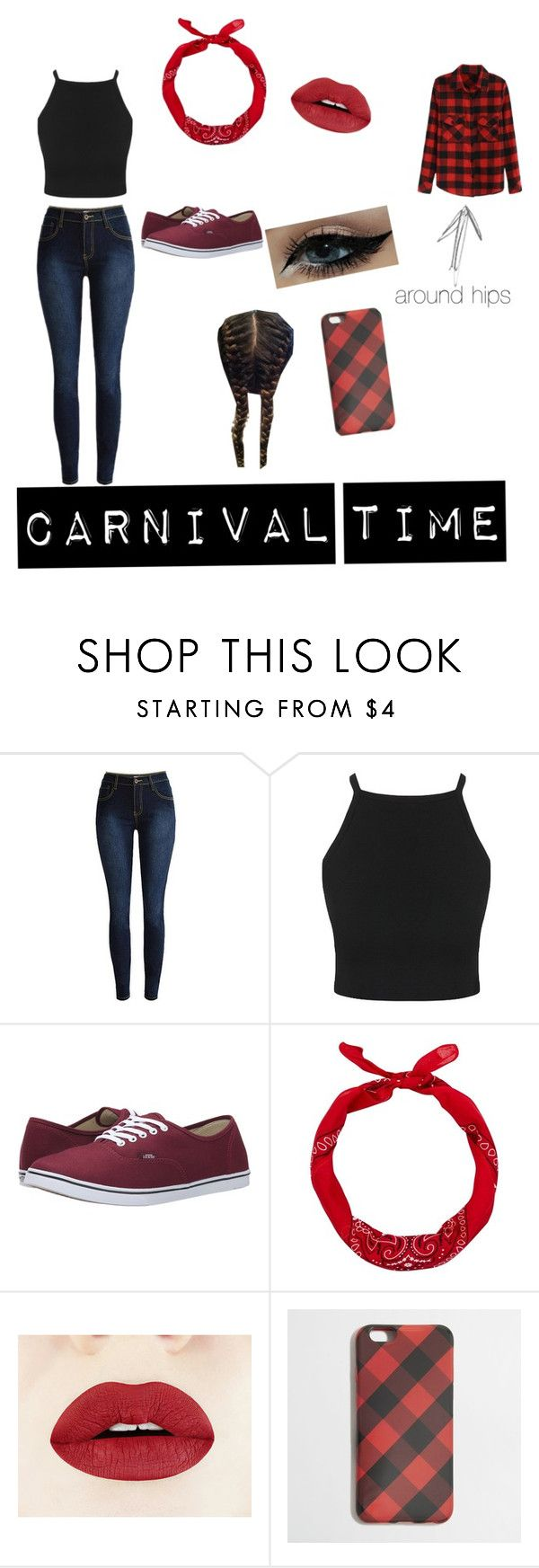 """carnival"" by bianca-grandao ❤ liked on Polyvore featuring Vans and J.Crew"