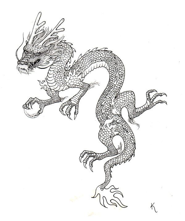Chinese Dragon Tattoo By Sonen On Deviantart Dragon Sleeve Tattoos Chinese Dragon Tattoos Dragon Tattoo For Women
