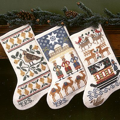 Lovely Christmas and Noah's Ark stocking patterns