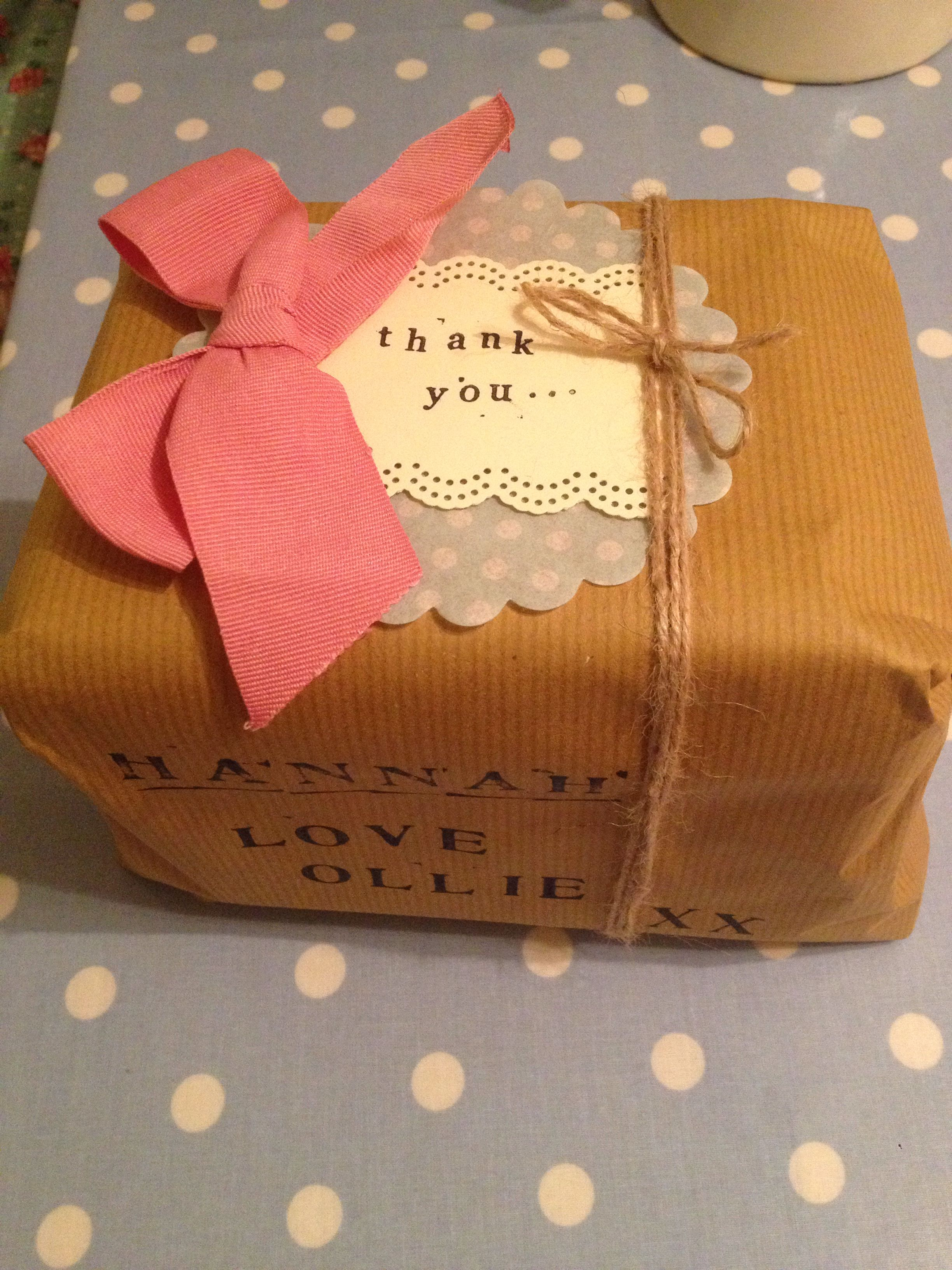 Thank you gift wrapping Sweet gift ideas, Gift wrapping