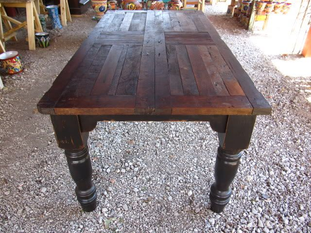 amazing farmhouse dining table made from antique mexican