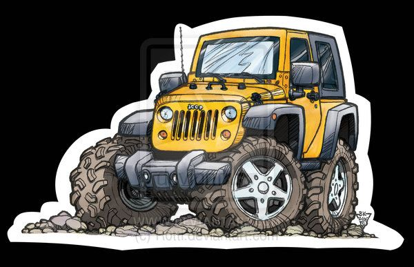 Jeep Jk Toon 2dr By R0tti On Deviantart Automoviles Afiches