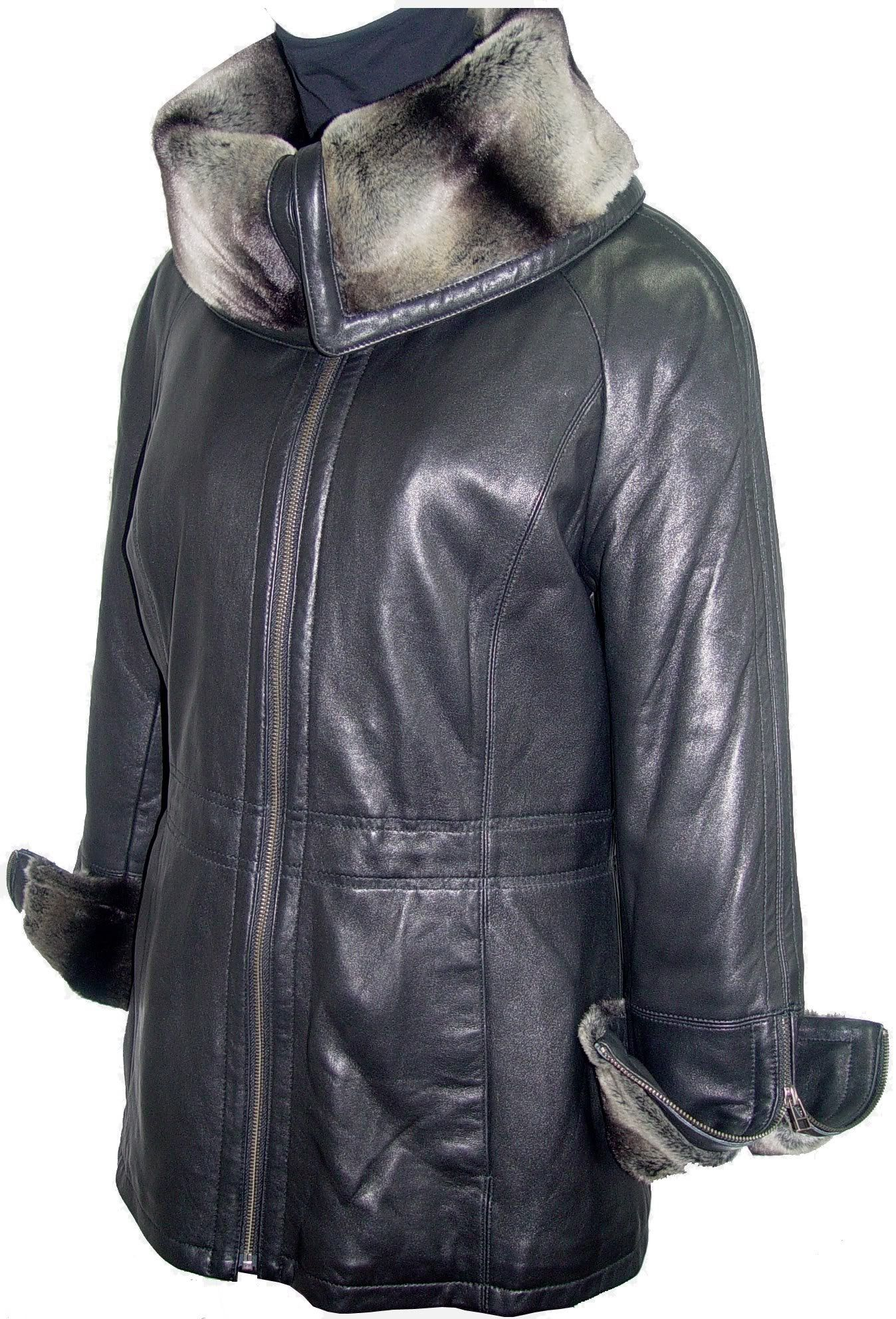 Johnny tailoring Women 5008 Real FUR LINED PETITE Leather
