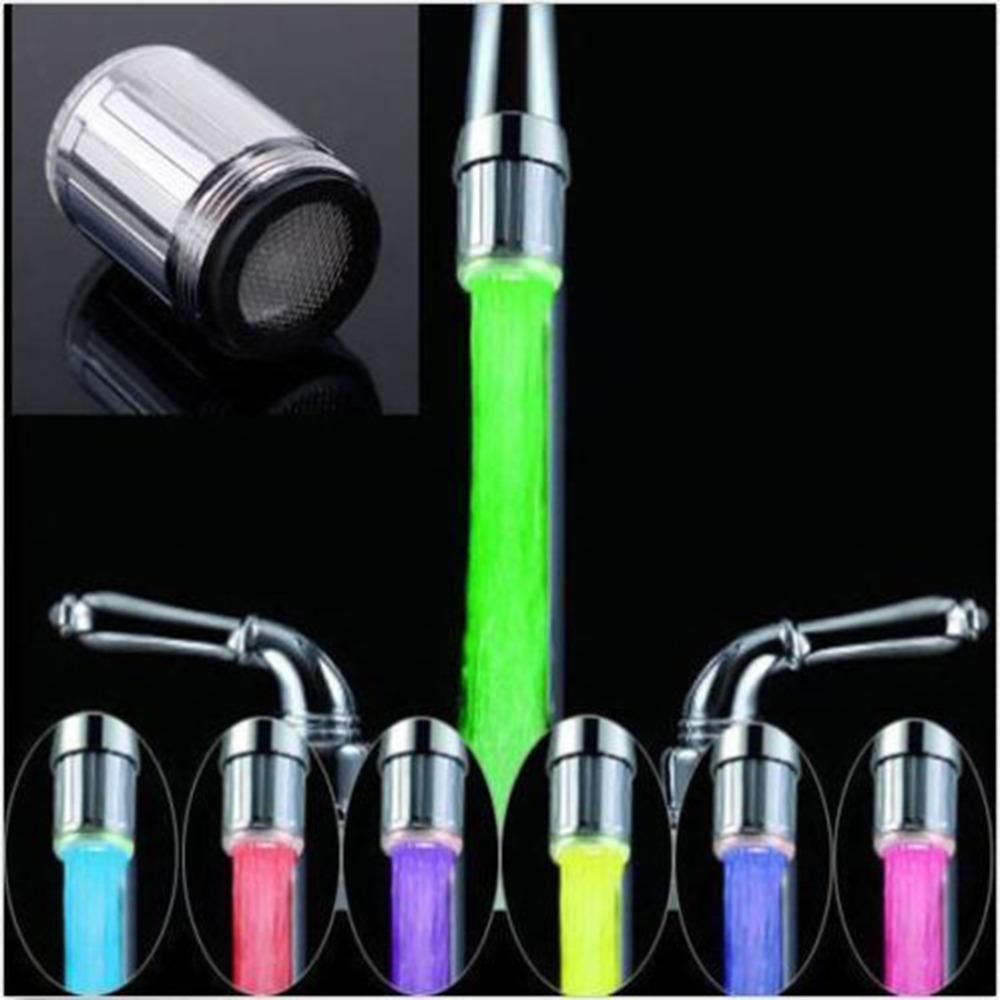 Visit to Buy] LED Water Faucet Stream Light 7 Colors Automatically ...