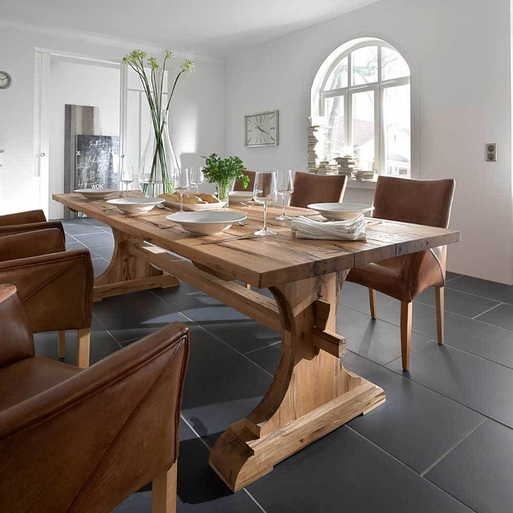 esszimmertisch aus eiche massiv lackiert landhaus rustikal jetzt bestellen unter https moebel. Black Bedroom Furniture Sets. Home Design Ideas