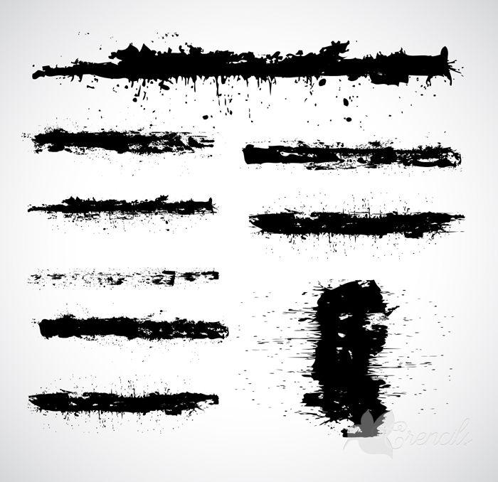 http://crencils.com/downloads/free-grunge-black-strokes-set-vector/