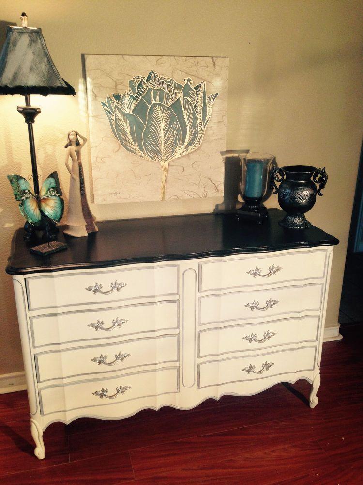 Best Dixie Vintage French Provincial 8 Drawer Dresser Makeover 400 x 300