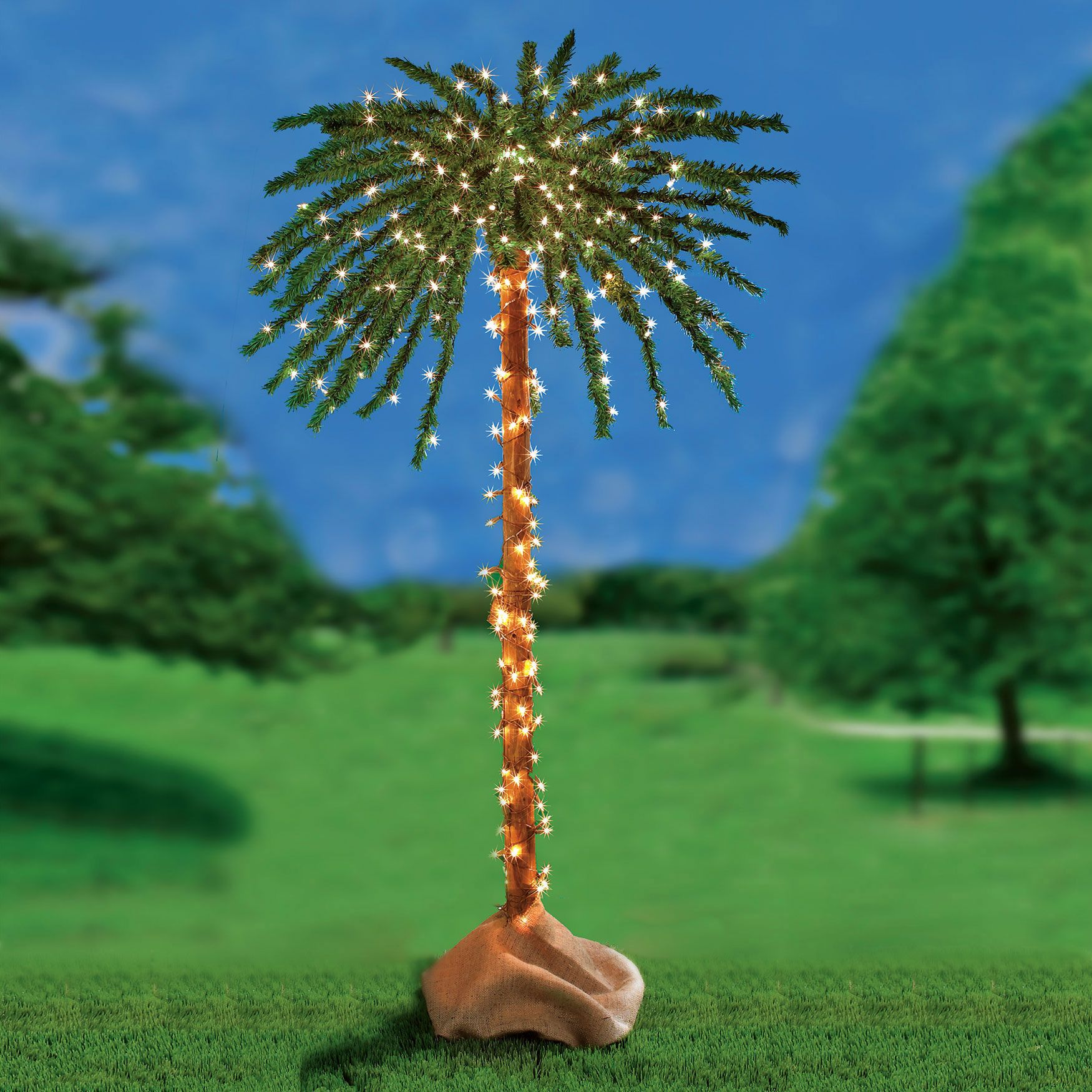 3-D Pre-Lit Palm Tree | Decor & Garden | Brylanehome | outdoor areas ...