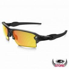 16f38f69830 Fake Oakley Flak 2.0 XL Matte Grey Smoke   Fire Iridium Polarized Cheap  Sunglasses