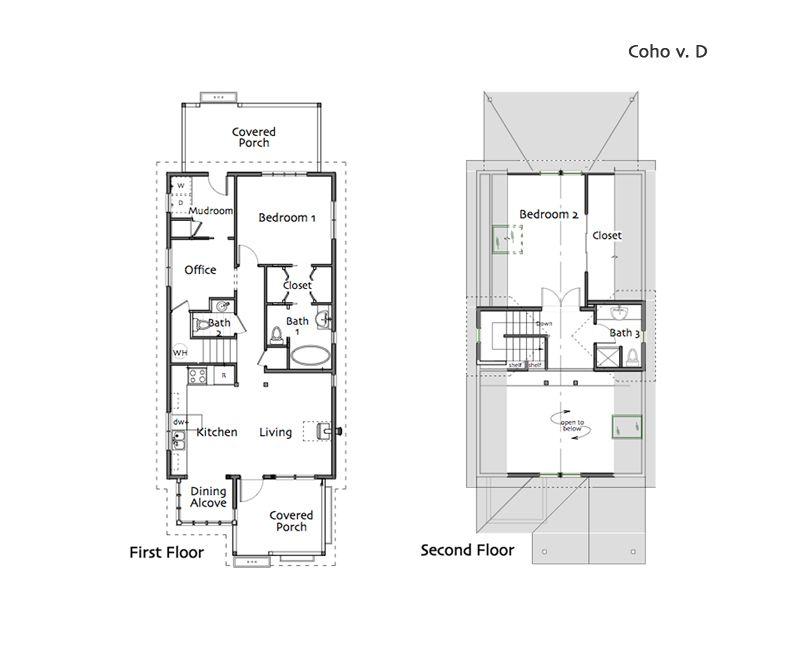 Coho Cottage Building Plans House House Plans House Floor Plans