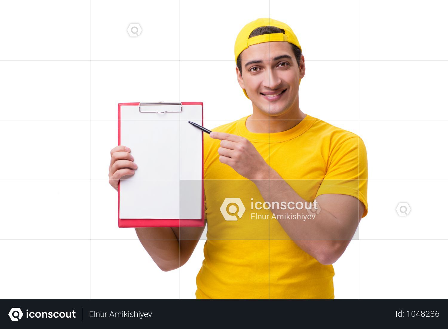 Premium Delivery Guy Isolated On The White Background Photo Download In Png Jpg Format Delivery Photos White Background Photo White Background