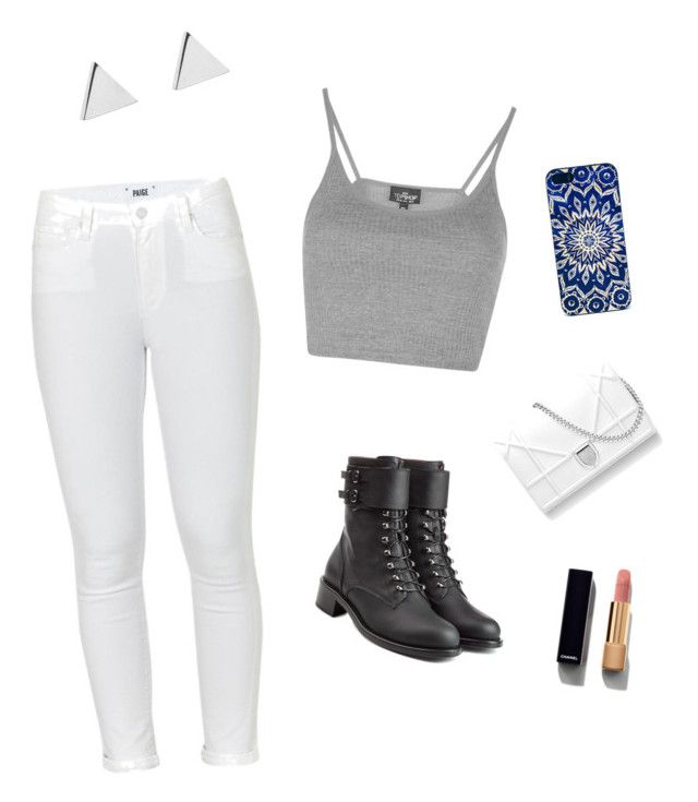 """""""Going out and about"""" by jjjunebug2 on Polyvore featuring Jennifer Meyer Jewelry, Topshop, Paige Denim, Philosophy di Lorenzo Serafini and Chanel"""