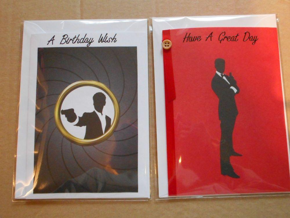 Secret Agent Theme Handmade Birthday Cards