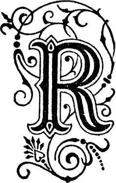 Fancy Letter R