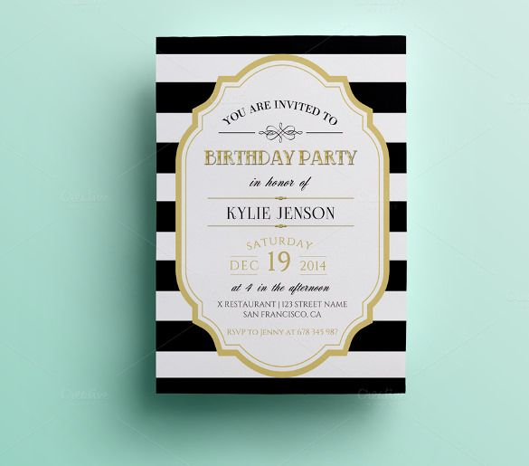 34+ Invitation Templates - Free Word, PSD, Vector Illustrator - birthday invite templates free to download
