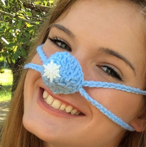 Snowflake Nose Warmer Nose Cozy Crochet Frozen By Auntmartymadeit