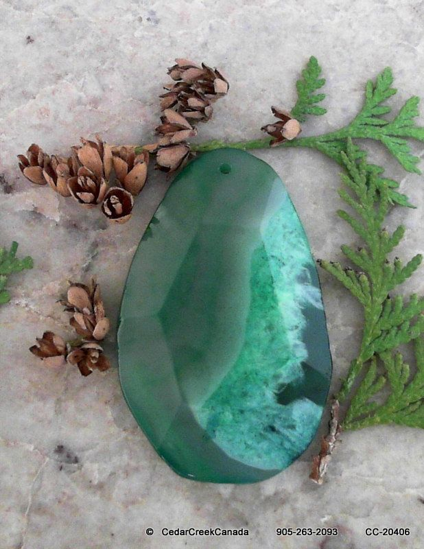 Green Druzy Agate Geode Gemstone              259.0 carats                     CC-20406