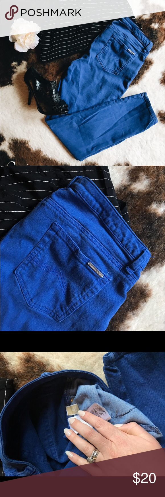 Michael Kors royal blue skinny jeans Michael Kors royal blue skinny jeans, size 12. Great condition! Mid-rise, comfy and flattering. Tank and booties also available! Michael Kors Jeans Skinny